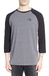 Men's Quiksilver 'Bubble Rio' Raglan Baseball T Shirt Tamac