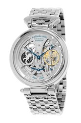Stuhrling Men's Special Reserve 797 Dual Time Automatic Watch Metallic