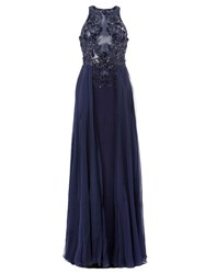 Zuhair Murad Embellished Panel Dress Blue