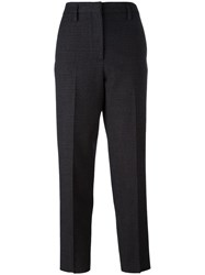 Golden Goose Deluxe Brand High Waisted Patterned Trousers Grey