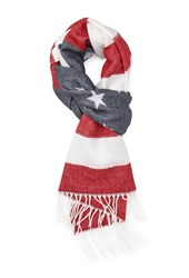 Forever 21 American Flag Print Scarf