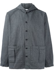 Sunnei Boxy Hooded Jacket Grey