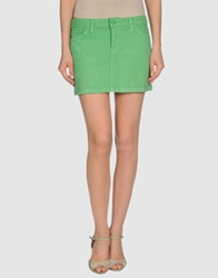 Juicy Couture Denim Skirts Green