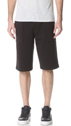 Vince Garment Wash Pull On Shorts Black