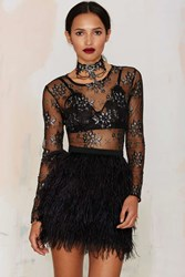 Nasty Gal After Party Vintage Tara Sheer Lace Top