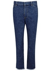 Toga Pulla Blue Cropped Flared Jeans