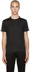 Burberry Black Sports Stripe T Shirt