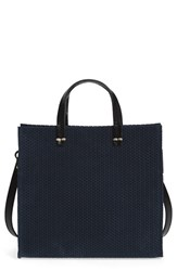 Clare V. 'Petite Simple Marine Rope' Woven Suede Tote