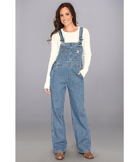 Carhartt Denim Bib Overall Unlined Faded Blue Indigo Women's Overalls One Piece