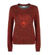 Claudie Pierlot Tigre Leopard Print Sweater Female Red