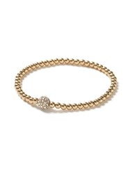 Topman Gold Look Beaded Crystal Ball Bracelet
