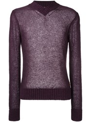 Al Duca D'aosta 1902 V Neck Sweater Pink Purple