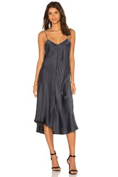 Kes Wave Slip Dress Navy