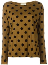 Forte Forte Polka Dot Long Sleeve T Shirt Brown