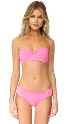Kate Spade Marina Piccola Scalloped Bandeau Bikini Top Teatime Pink