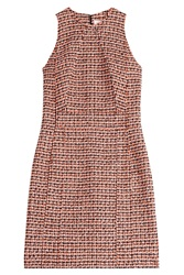 Victoria Beckham Denim Tweed Mini Dress Multicolor