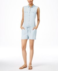 Kut From The Kloth Valentina Sleeveless Romper Light Blue