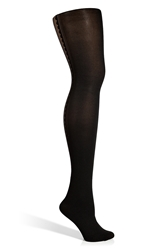 Fogal Black Black Bijoux Tights With Silver Swarovski Crystals