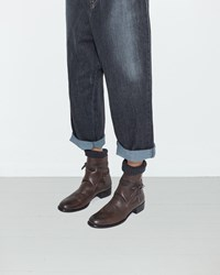 Y's Knit Jodhpur Boots Brown