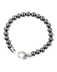 Hematite Bead Sterling Silver Bracelet Stephen Webster