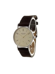 Nomos 'Tangente 33 Karat' Analog Watch Brown