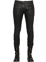 Diesel Black Gold 17Cm Leather Effect Coated Jersey Jeans