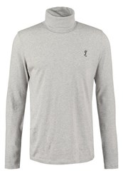 Religion Overdrive Long Sleeved Top Grey Marl Mottled Grey