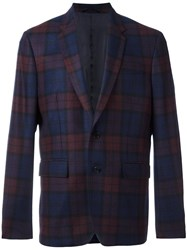 Dondup Checked Blazer Blue