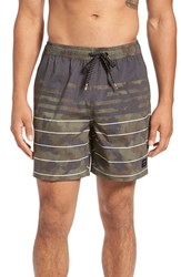 Quiksilver Men's 'Swell Vision' Volley Swim Trunks Dark Brown