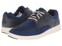 Ugg Lister New Navy Suede Men's Shoes Blue