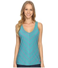 The North Face Striped Breezeback Tank Top Teal Blue Women's Sleeveless