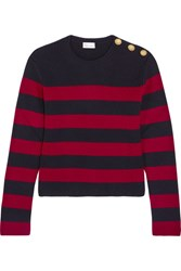 Red Valentino Redvalentino Striped Ribbed Wool Sweater