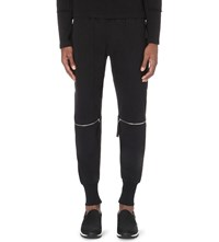 Blood Brother Zipped Knees Jersey Jogging Bottoms Black