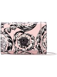 Versace 'Palazzo Medusa' Patent Foldover Clutch Pink And Purple