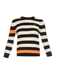 Bella Freud Cortina Contrast Stripes Cashmere Sweater