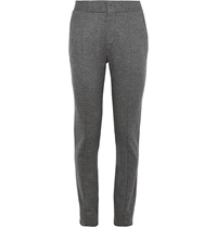Berluti Slim Fit Wool And Cashmere Blend Trousers Gray