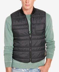 Denim And Supply Ralph Lauren Men's Slim Fit Quilted Vest Black