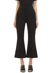 Stella Mccartney Wide Leg Flared Twill Pants Black