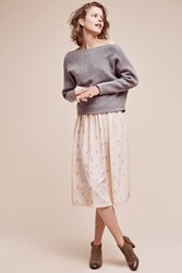 Anthropologie Sula Off The Shoulder Pullover Grey