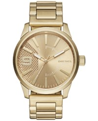 Diesel Men's Rasp Gold Tone Stainless Steel Bracelet Watch 46X53mm Dz1761
