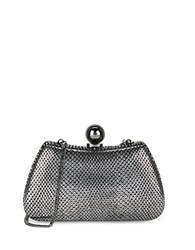 Halston Embossed Leather Clutch Anthracite