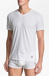 Polo Ralph Lauren Trim Fit V Neck T Shirt 3 Pack White
