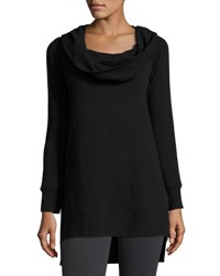 Grey State Aries Cowl Neck Tunic Pullover Black