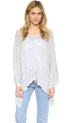 White Warren 3 Way Linen Poncho Cloud Heather