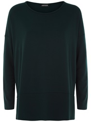 Jaeger Heavy Jersey Top Forest Green