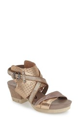 Women's Otbt 'Take Off' Sandal Gold Leather