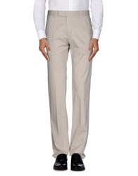 Armani Collezioni Trousers Casual Trousers Men Light Grey