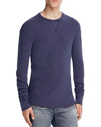 Todd Snyder Champion Thermal Knit Pullover Navy