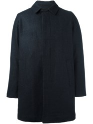 Maison Kitsune Single Breasted Coat Blue