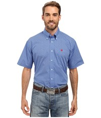 Cinch Short Sleeve Print Royal Men's Clothing Navy